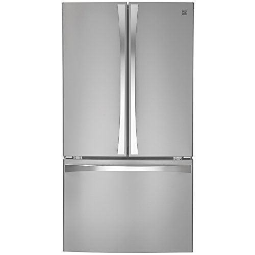 Kenmore 04674015 French Door Bottom Freezer Refrigerator with Active Finish, Stainless Steel, Elite 30.6 cu. ft, Stainless Steel with Active Finish