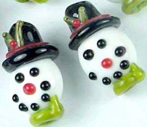 Lampwork Handmade Glass Halloween Clown Beads (6) Spacer Beads and Roll Crystal String for Bracelets Jewelry -