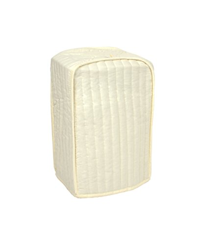 RITZ Polyester / Cotton Quilted Stand Mixer or Coffee Maker Appliance Cover Dust and Fingerprint Protection Machine Washable Natural