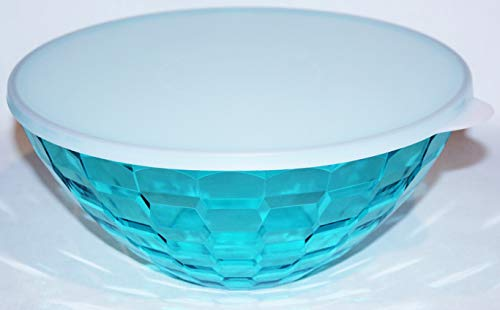 Tupperware Ice Prisms Large Serving Bowl 15 Cups / 3.5 Liters Aqua -
