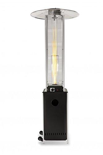 Terrassen-Heizstrahler 'Optical Pro': CE-zertifizierter Gasheizer mit elegantem Design, robuster Stahl-Alu-Rahmen für stabilen Stand des Terrassenheizers, gesamte Heizpilz-Höhe 225 cm