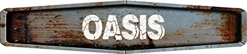 (Any and All Graphics Oasis Rustic Weathered Metal Look Diamond Shaped 8