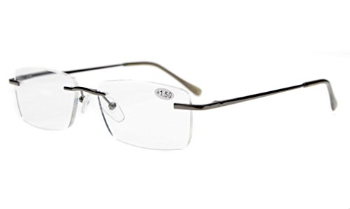 Eyekepper Mens Womens Spring Hinges Rimless Eyeglasses - Eyeglass Rimless