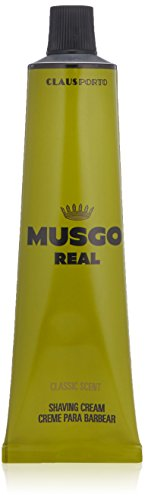 By Scented Shaving Cream - Musgo Real Shaving Cream - Classic Scent 3.4 Ounce