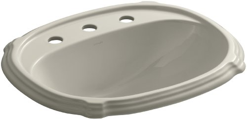 KOHLER K-2189-8-G9 Portrait Self-Rimming Bathroom Sink,