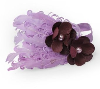 Lovely Ovely Unusal Cotton Baby Girls Infant Bow Peacock Headband Hairband Feather Flower Hair Band Light Purple