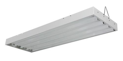 Solar Flare T5 Fluorescent - 4 ft. Fixture | 4 Lamp | 120V - Indoor Grow Light Fixture for Hydroponic and Greenhouse Use by SolarFlare