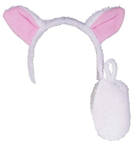 Jacobson Hat Company Costume Accessory Kit- Lamb Headband with Tail