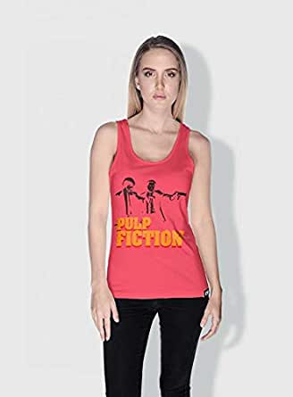 Creo Pulp Fiction Movie Posters Tanks Tops For Women - S, Pink