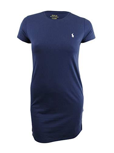 Polo Ralph Lauren Womens Lightweight Jersey Dress (L, Blue) (Ralph Lauren Clothing Women)