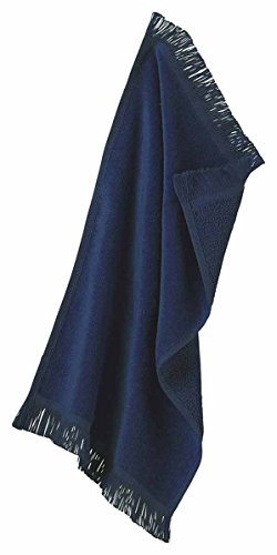 Anvil T101 Towels Plus By Fringed Spirit Towel, Navy - One (Cotton Sheared Terry Towel)