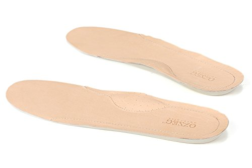 OZZEG Women Shoes Insoles Leather Inserts New Design Inner Soles (7 (Cushioned Leather Insole)