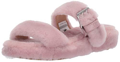 UGG Women's Fuzz Yeah Wedge Sandal, Pink Crystal, 8 M US