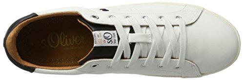 s.Oliver 13604, Zapatillas para Hombre Blanco (White)