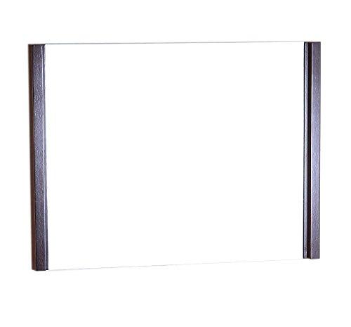 bellaterra Home Espejo de marco de madera con acabado de color wengué, 91,4cm