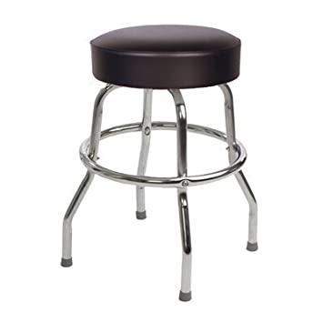 Richardson Seating Retro 1950s Backless Swivel Bar Stool with Black Seat - 24u0026quot;  sc 1 st  Amazon.com : seating stool - islam-shia.org