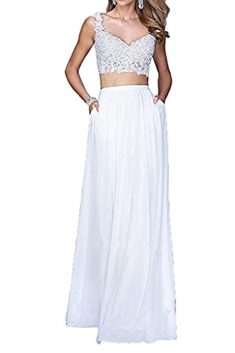 Formal White BessDress Prom Dresses BD199 Piece Lace Two Dresses Homecoming Party aAAwXvqx