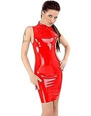 Anita Berg Anita Berg mini-jurk met opstaande kraag en ritssluiting
