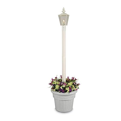 Patio Living Cambridge 00411 Single White Planter Lamp 80...