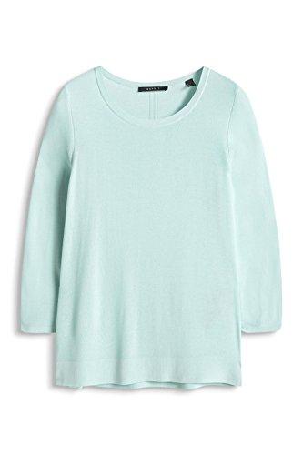 ESPRIT Collection Regular Fit, Suéter para Mujer Grün (LIGHT AQUA GREEN 390)