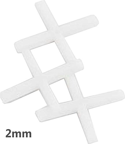 HAWK 250 Piece Set of 2mm Tile Spacers To Evenly Space Tiles During Installation - D92250
