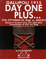 Gallipoli 1915 Day One Plus... 27th Ottoman Inf. Regt. Vs. Anzacs Based on Account of Lt. Col. Sefik Aker Commander of 27th. Inf. Regt. (Military - Polo Polo Black Vs Red