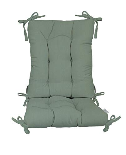 - Indoor/Outdoor Sunbrella Canvas Spa Rocking Chair 2 Pc Tufted Cushion Set ~ Choose Size (Back Cushion:18
