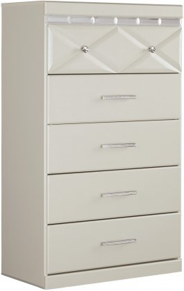 Ashley Dreamur 5 Drawer Chest in Champagne by Ashley Furniture