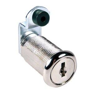 Disc Tumbler Cam Lock, Nickel, Key C642A