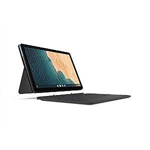 "Lenovo Chromebook Duet, 2-in-1, 10.1"" WUXGA (1920 x 1200) Display, MediaTek Helio P60T, 4GB LPDDR4X RAM, 64GB eMCP SSD, Integrated ARM G72 MP3 Graphics, Chrome OS, ZA6F0031US, Ice Blue + Iron Grey"