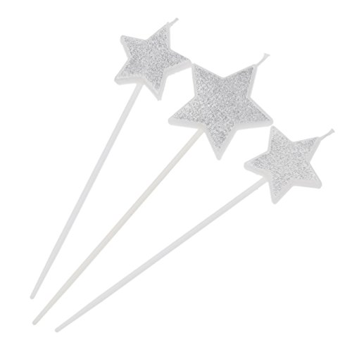 (Candle Cake Toppers Love Dress Star Design Party Wedding Cupcake Decoration Gift)