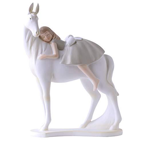 SDBRKYH Decoración de la Escultura de Cuento de Hadas, niña ...