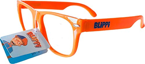 Blippi Glasses for Children - Orange Nerd Glasses ()