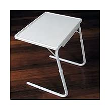 Adjustable TV Tray - Table Mate Classic - Medium (White) (21-3/4 - 29-1/4H x 23W x 17D)