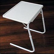 Amazon Com Adjustable Tv Tray Table Mate Classic Medium White