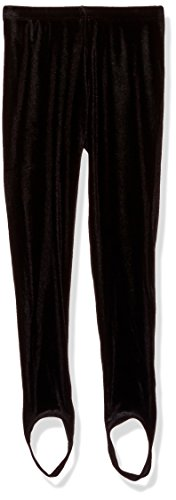 Kate Mack Girls' Little Rumba Roses Stirrup Pant, Black, 6X (Leggings Kate Capri Mack)