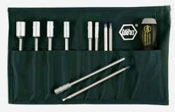 (Wiha 10895 Interchangeable Blade Screwdriver Set, Slotted, Phillips and Inch Nut Drivers, 11 Piece)