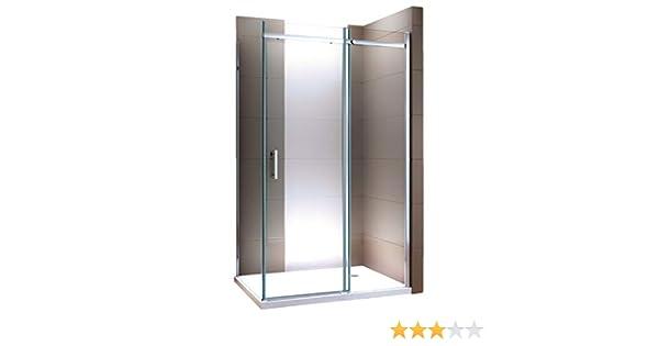 Ducha de esquina con puerta corredera DX806A FLEX, cristal de seguridad Nano ESG, montaje flexible: Amazon.es: Bricolaje y herramientas