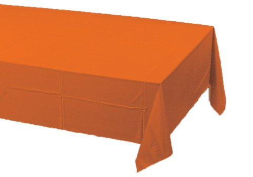 Creative Converting Paper Banquet Table Cover, Sunkissed Orange ()