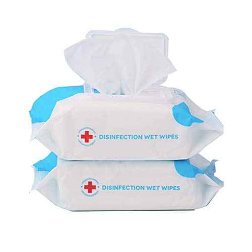 KOOMTOOM 2 Packs Alcohol Wipes, 160 Pcs Disposable Alcohol Cleaning Wet Wipes, Large Size Wet Wipe for Travel Home…