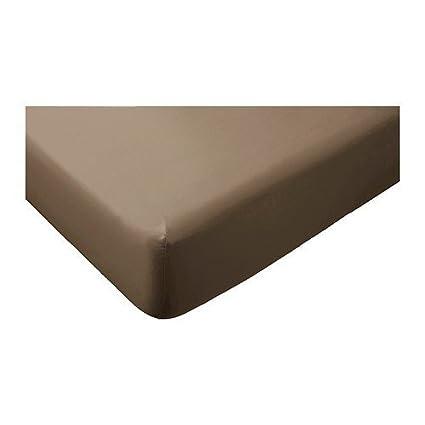 IKEA gaspa sábana bajera en marrón; 100% algodón; (160 x 200 cm