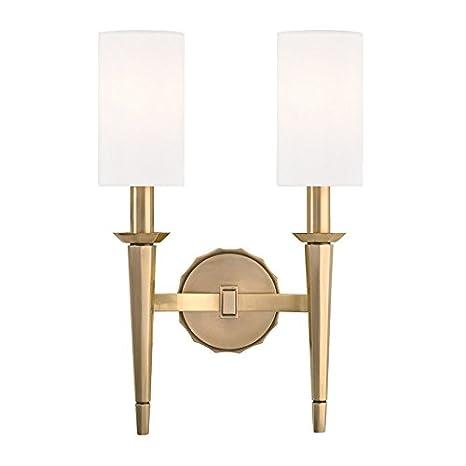 Amazon.com: Sconces - Lámpara de pared con 2 bombillas de ...