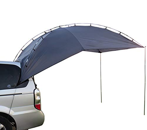 Hasika Light Weight Waterproof, Durable Tear Resistant, Multifunction Uses Auto Camping/SUV, MPV,Trailer,Teardrop,Sedan Anti-uv Tent for Beach Camping/Auto Traveling Tent/Shade Awning with 2 Sandbag