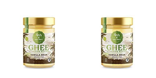 Vanilla Bean Grass-Fed Ghee Butter by 4th & Heart, 9 Ounce, Pasture Raised, Non-GMO, Lactose Free, Certified Paleo, Keto-Friendly - 2 Pack by 4th & Heart (Image #4)