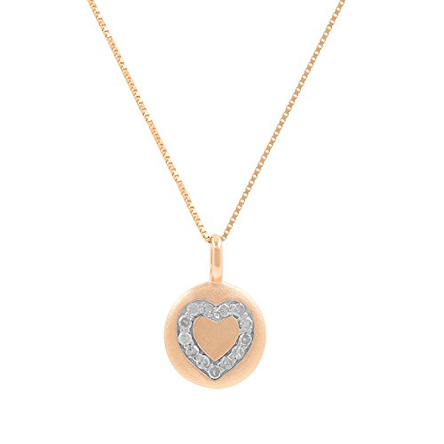 last Disc 0.11ct Diamond Accent Heart Mini Pendant (Diamond Heart Disc)