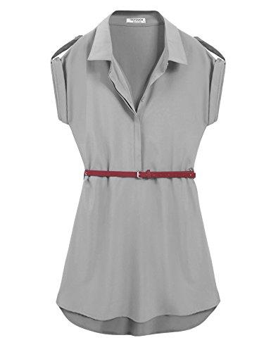 Buy belted chiffon shirt dress - 4