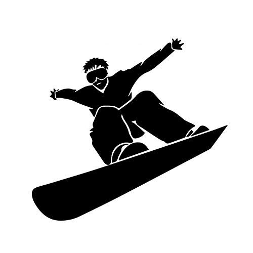 (hiusan Fashion Snowboarding Snowboarder Funny Bumper Stickers Car Window Laptop Lable Decals Vinyl)