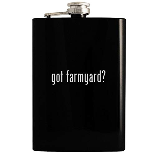 - got farmyard? - 8oz Hip Drinking Alcohol Flask, Black