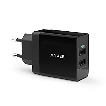 Anker AK-A2021313 - Cargador USB de Pared 24W 2-Puertos Cargador PowerIQ para Apple iPhone 6/6 Plus, iPad Air 2/mini 3, Samsung Galaxy S6/S6 Edge, ...