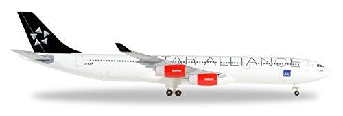(Herpa Wings 1 / 500 A340-300 Scandinavian Airlines Star Alliance OY-KBM)